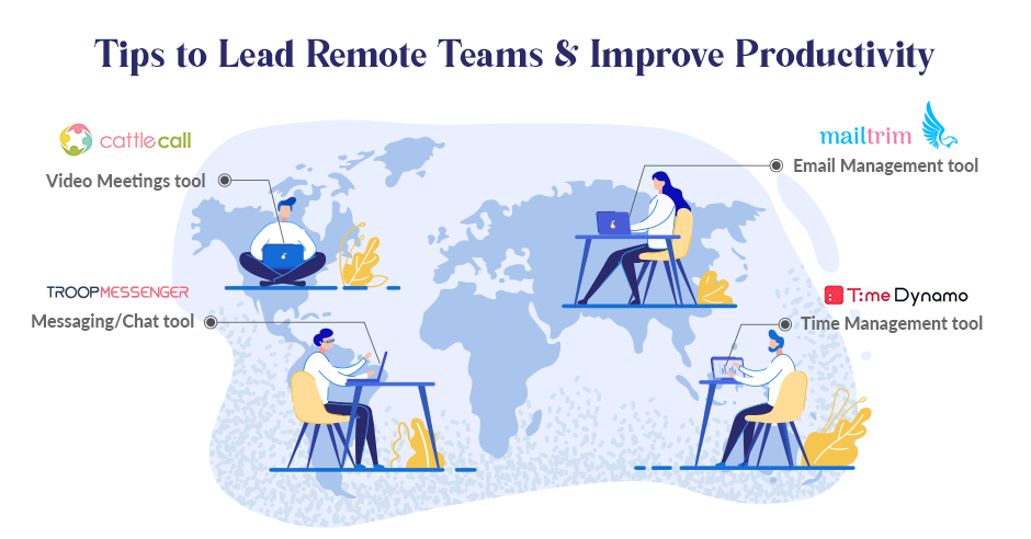 Tips to lead remote teams & improve productivity